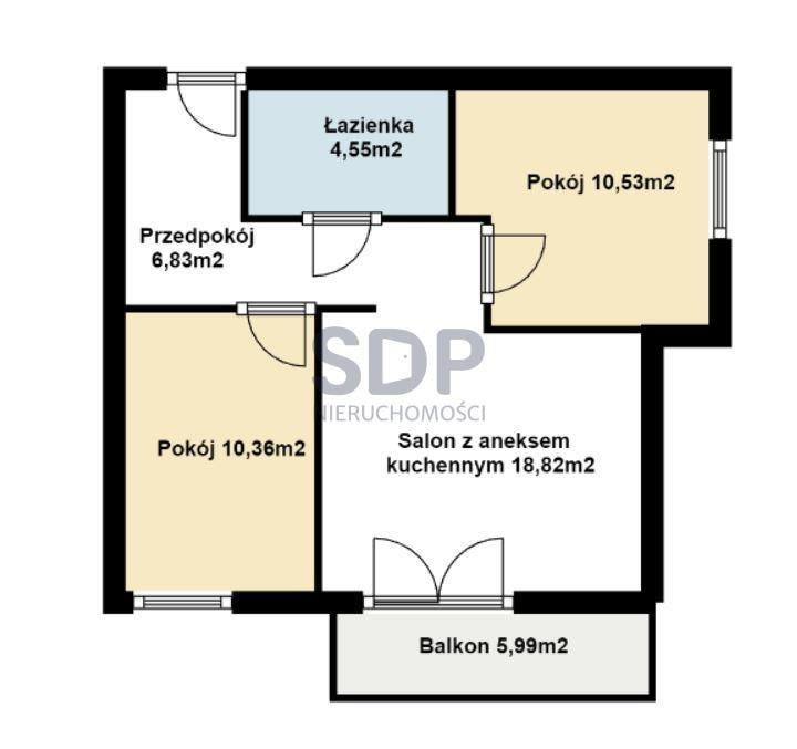 Mieszkanie trzypokojowe na sprzedaż Wrocław, Fabryczna, Maślice, ok. Królewieckiej  52m2 Foto 2