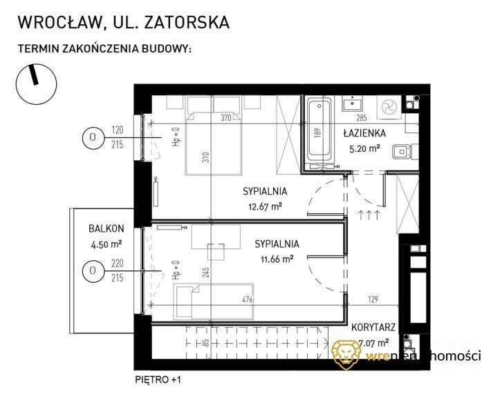 Mieszkanie czteropokojowe  na sprzedaż Wrocław, Psie Pole, Zatorska  77m2 Foto 6