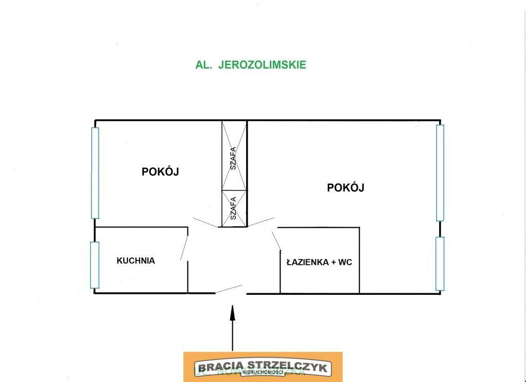 Mieszkanie dwupokojowe na sprzedaż Warszawa, Śródmieście, Aleje Jerozolimskie  47m2 Foto 5