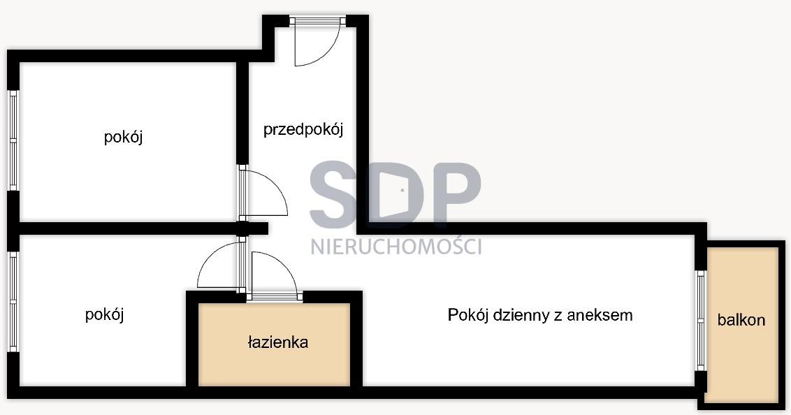 Mieszkanie trzypokojowe na sprzedaż Wrocław, Fabryczna, Stabłowicka  54m2 Foto 2