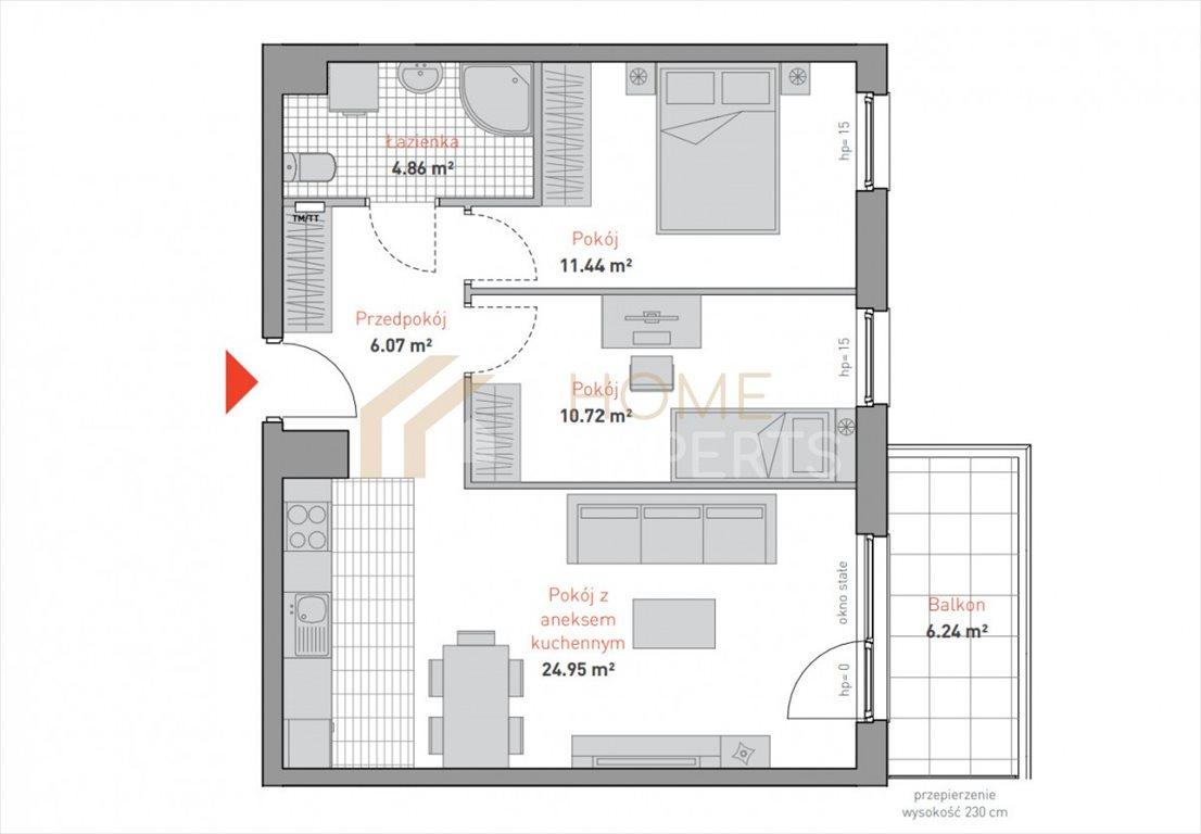 Mieszkanie trzypokojowe na sprzedaż Gdańsk, Morena, Bulońska  58m2 Foto 3