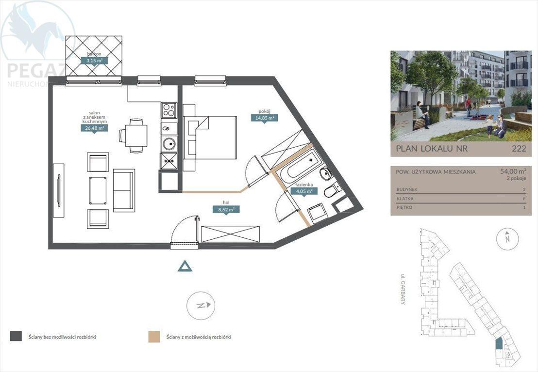 Mieszkanie dwupokojowe na sprzedaż Poznań, Centrum  54m2 Foto 4