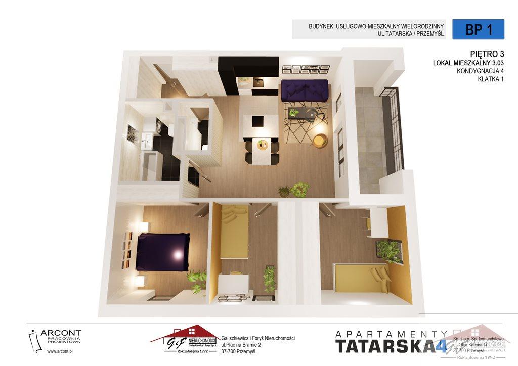 Mieszkanie czteropokojowe  na sprzedaż Przemyśl, Tatarska  77m2 Foto 5