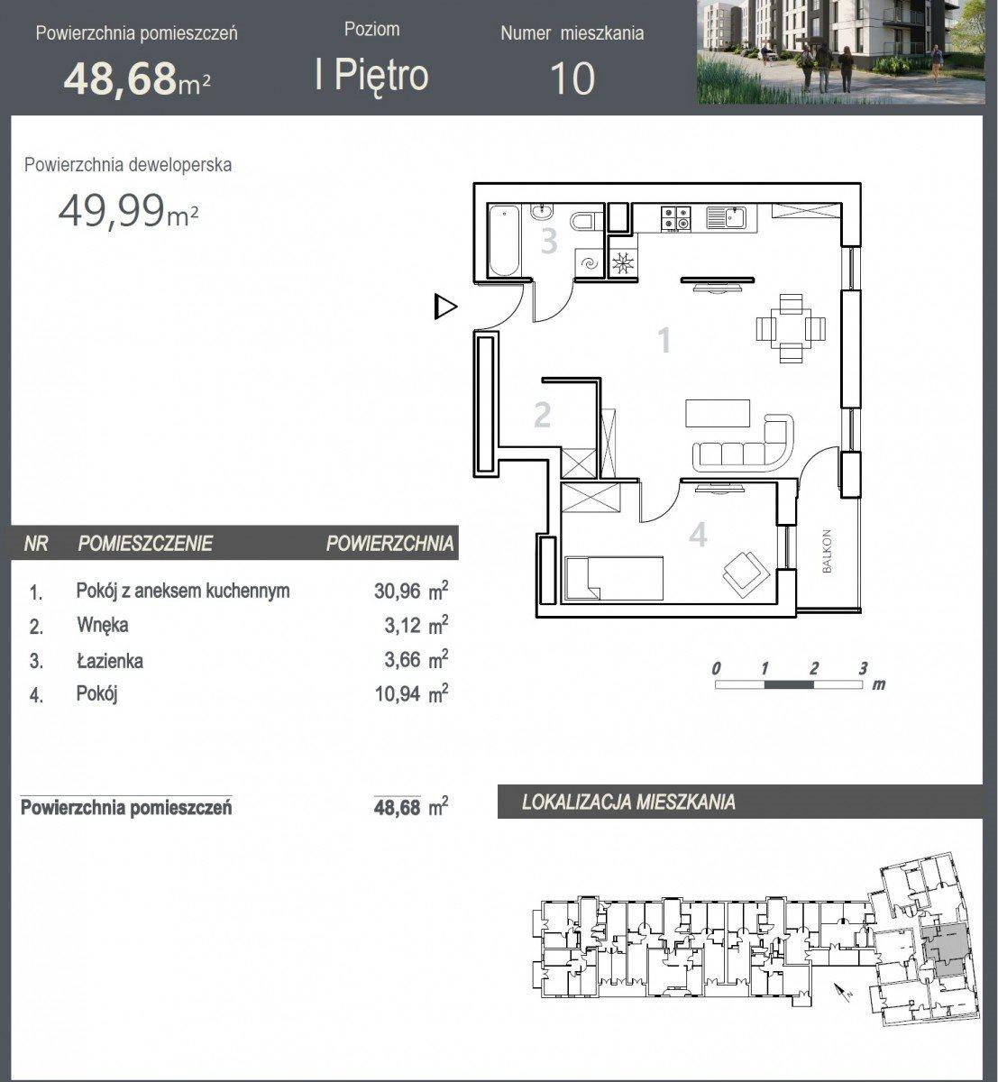 Mieszkanie dwupokojowe na sprzedaż Bydgoszcz, Szwederowo, Stanisława Leszczyńskiego  50m2 Foto 5