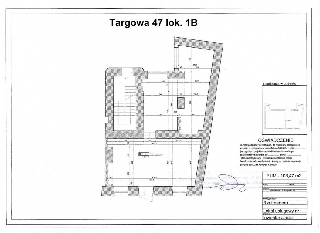 Lokal użytkowy na wynajem Warszawa, Praga-Północ, Targowa  104m2 Foto 8