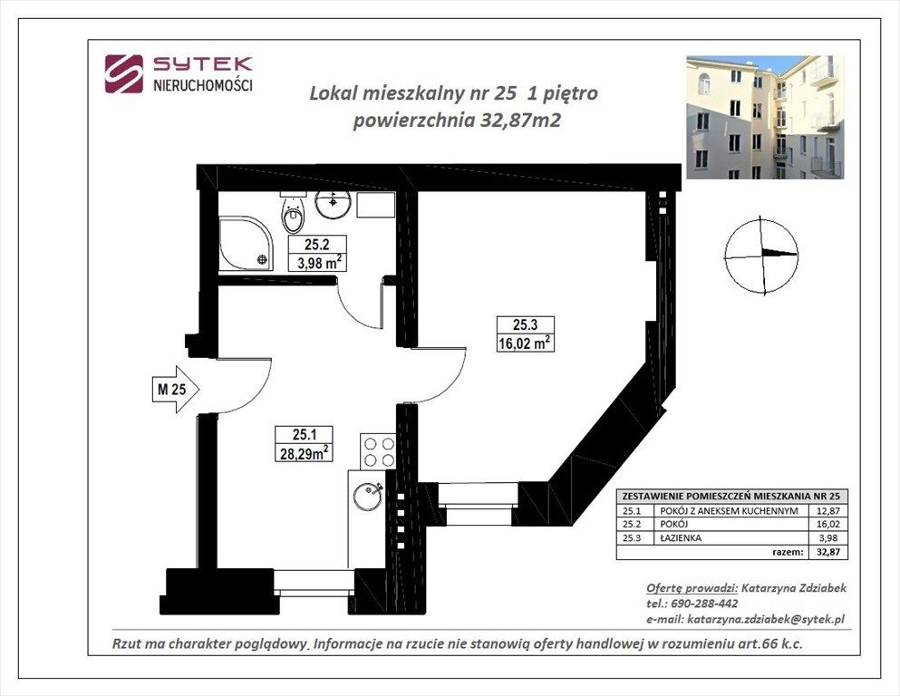 Mieszkanie dwupokojowe na sprzedaż Poznań, Centrum, ul. Półwiejska  33m2 Foto 3