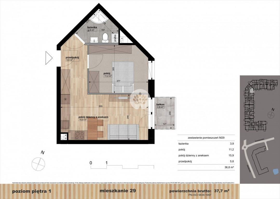 Mieszkanie dwupokojowe na sprzedaż Bydgoszcz, Czyżkówko, Siedlecka  38m2 Foto 9