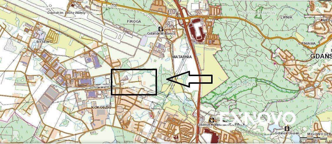 Działka budowlana na sprzedaż Gdańsk, Kokoszki, Dojazdowa  2156m2 Foto 2