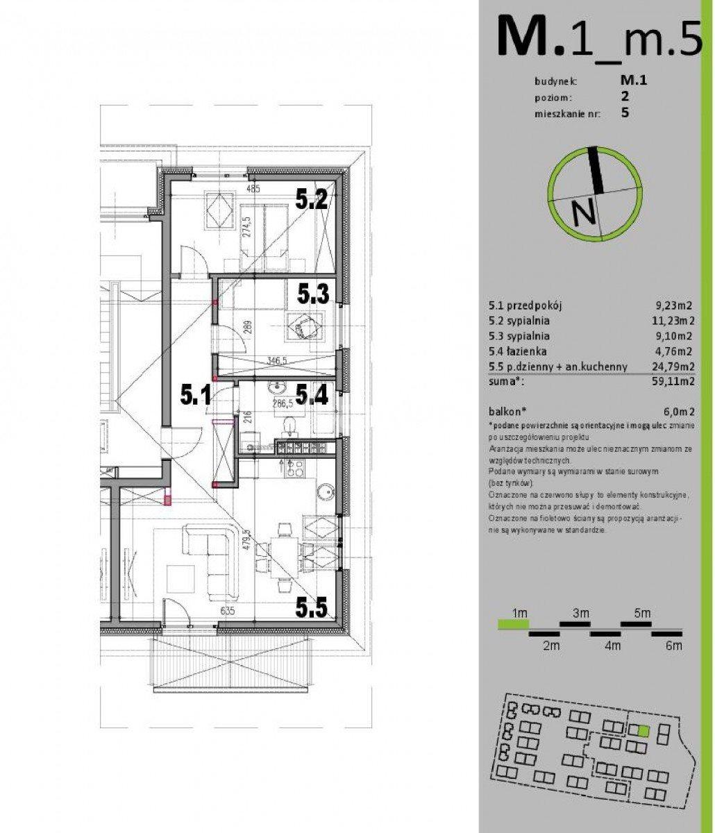 Mieszkanie trzypokojowe na sprzedaż Kiełczów  62m2 Foto 1