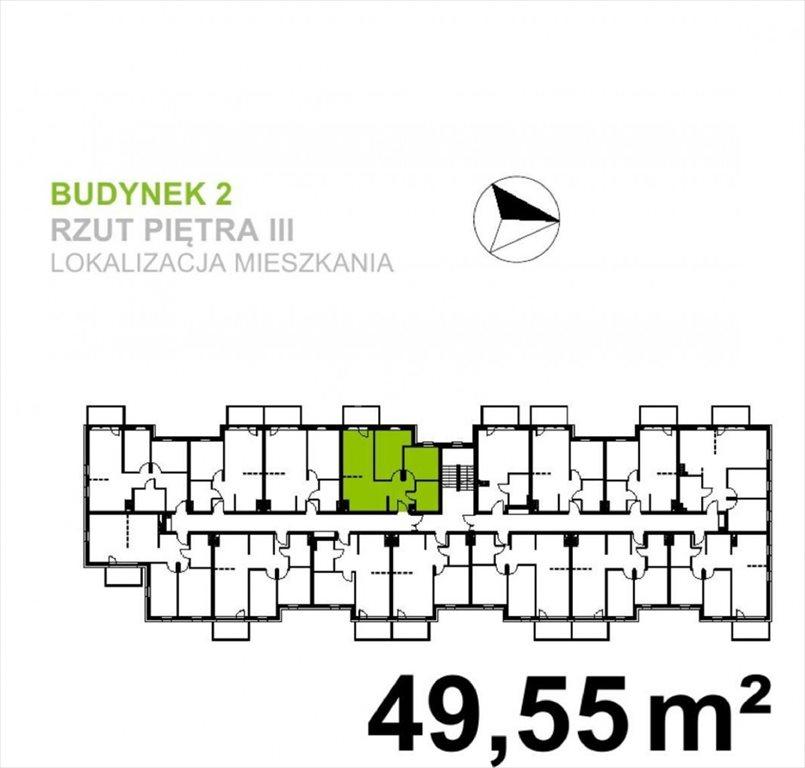 Mieszkanie trzypokojowe na sprzedaż Wrocław, Klecina  50m2 Foto 3