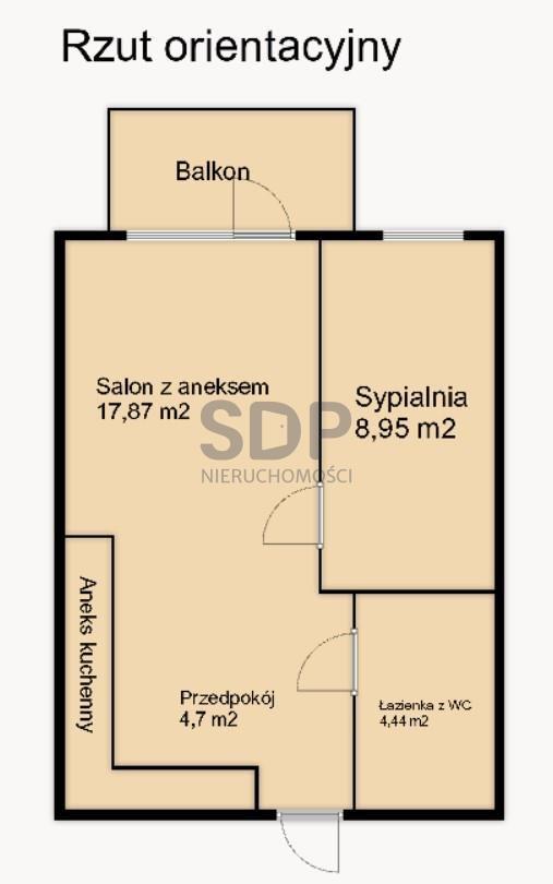Mieszkanie dwupokojowe na sprzedaż Wrocław, Krzyki, Jagodno  37m2 Foto 4
