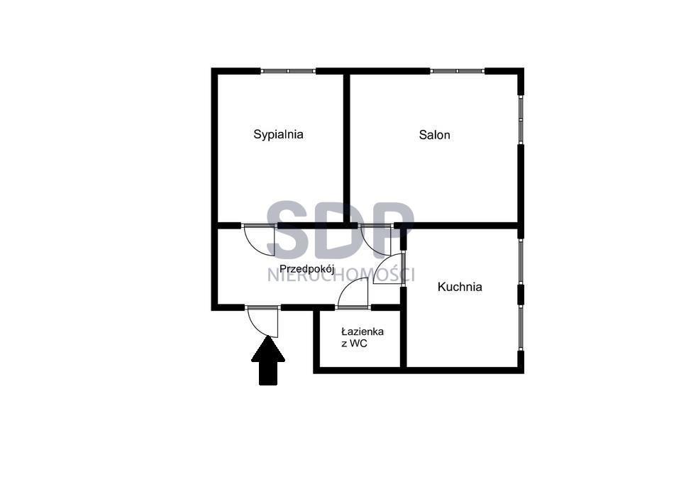 Mieszkanie dwupokojowe na sprzedaż Wrocław, Krzyki, Huby, Nyska  65m2 Foto 8