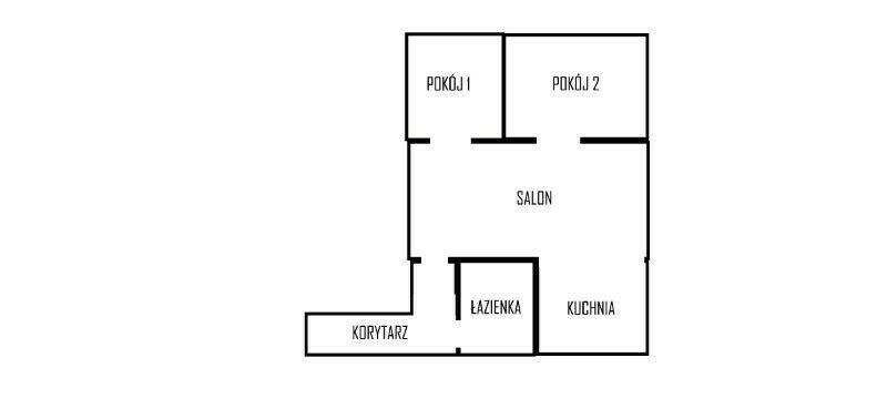 Mieszkanie trzypokojowe na sprzedaż Zabierzów, Sienkiewicza, os. Sienkiewicza 3  46m2 Foto 6