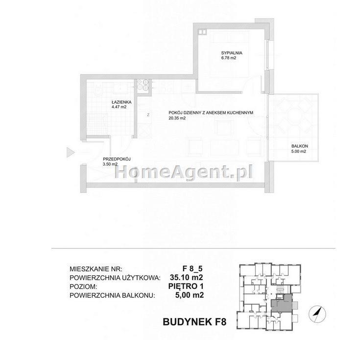 Mieszkanie dwupokojowe na sprzedaż Katowice, Kostuchna, Bażantowo, Zabłockiego  35m2 Foto 9