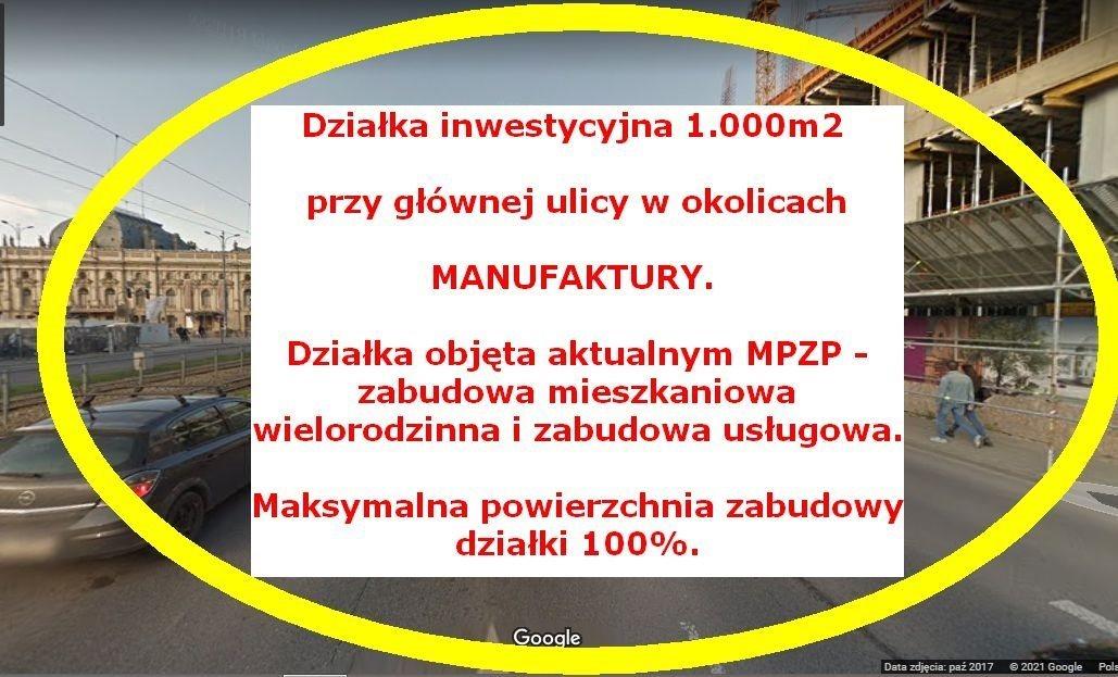 Działka inna na sprzedaż Łódź, Śródmieście, Śródmieście  1000m2 Foto 1