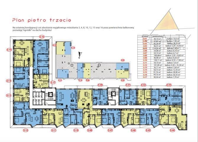Mieszkanie trzypokojowe na sprzedaż Leszno, Sobieskiego  54m2 Foto 12