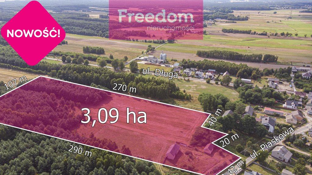 Działka rolna na sprzedaż Ożegów, Piaskowa  30026m2 Foto 9