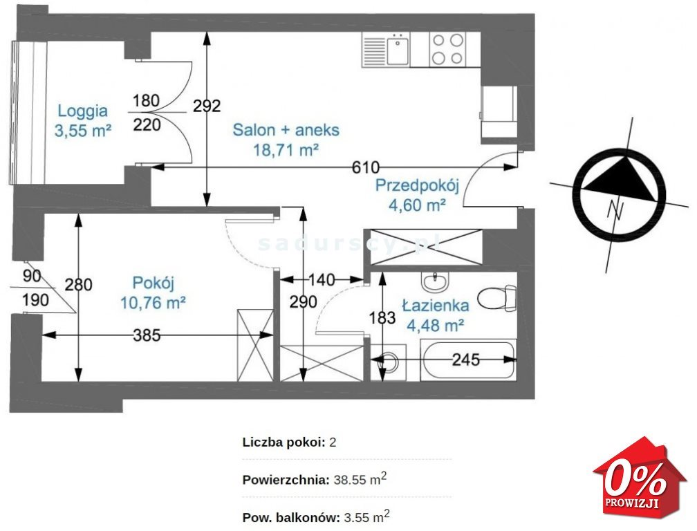 Mieszkanie dwupokojowe na sprzedaż Kraków, Podgórze, Zabłocie, Nowohucka  39m2 Foto 3