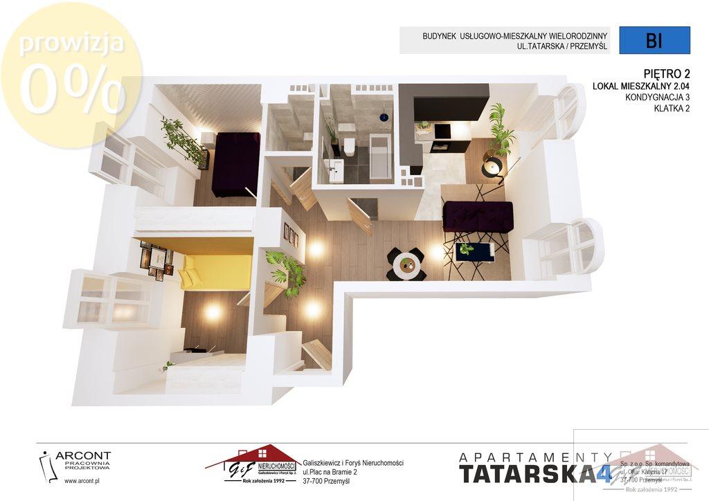 Mieszkanie trzypokojowe na sprzedaż Przemyśl, Tatarska  61m2 Foto 1