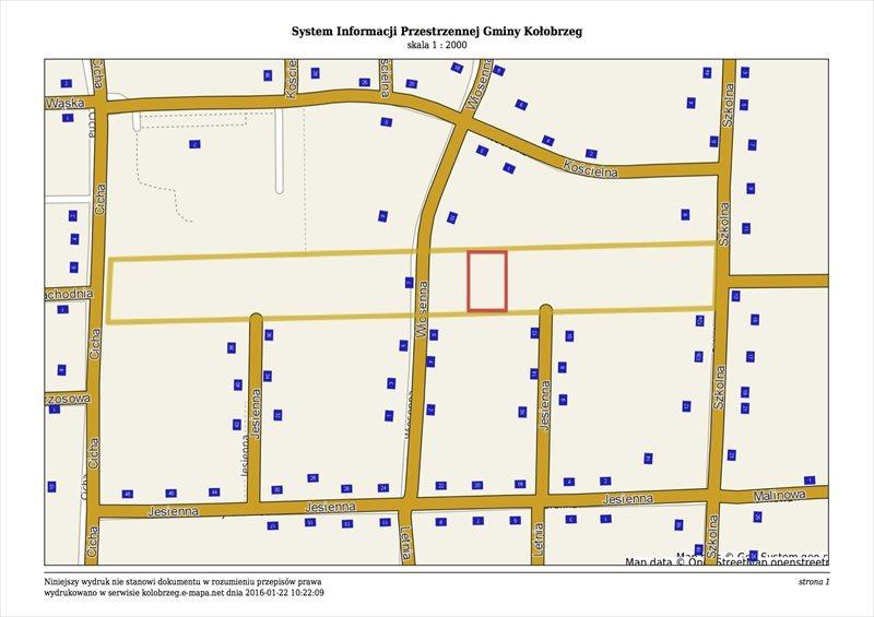 Działka budowlana na sprzedaż Kołobrzeg, Wiosenna  1311m2 Foto 1