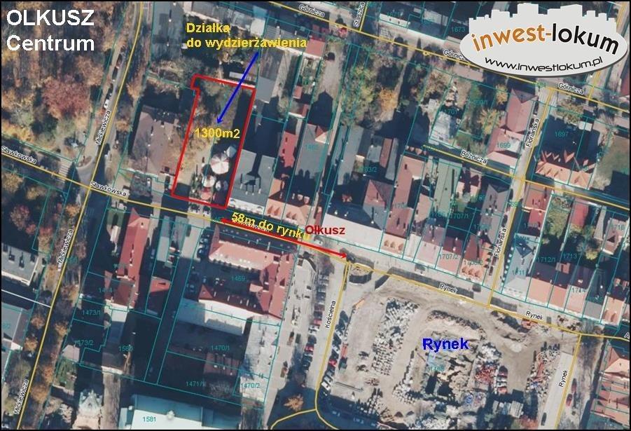 Działka inwestycyjna pod dzierżawę Olkusz  1400m2 Foto 9