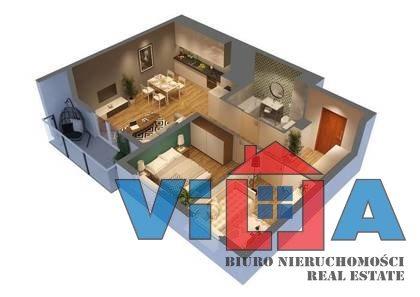 Mieszkanie trzypokojowe na sprzedaż Zielona Góra, os. Czarkowo  52m2 Foto 3