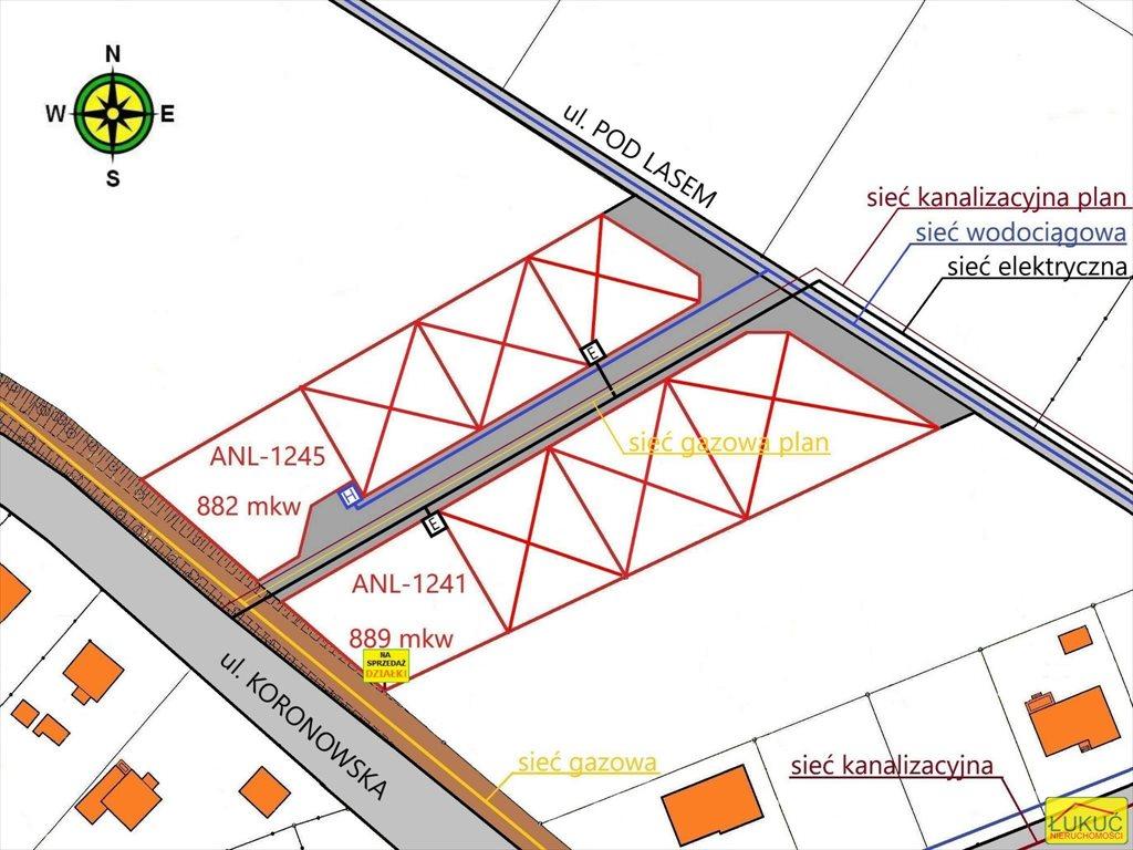 Działka rolna na sprzedaż Żołędowo, Pod Lasem  875m2 Foto 2