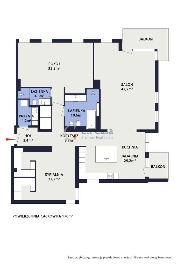 Mieszkanie trzypokojowe na sprzedaż Warszawa, Praga-Południe, Saska Kępa, al. Jerzego Waszyngtona  170m2 Foto 13