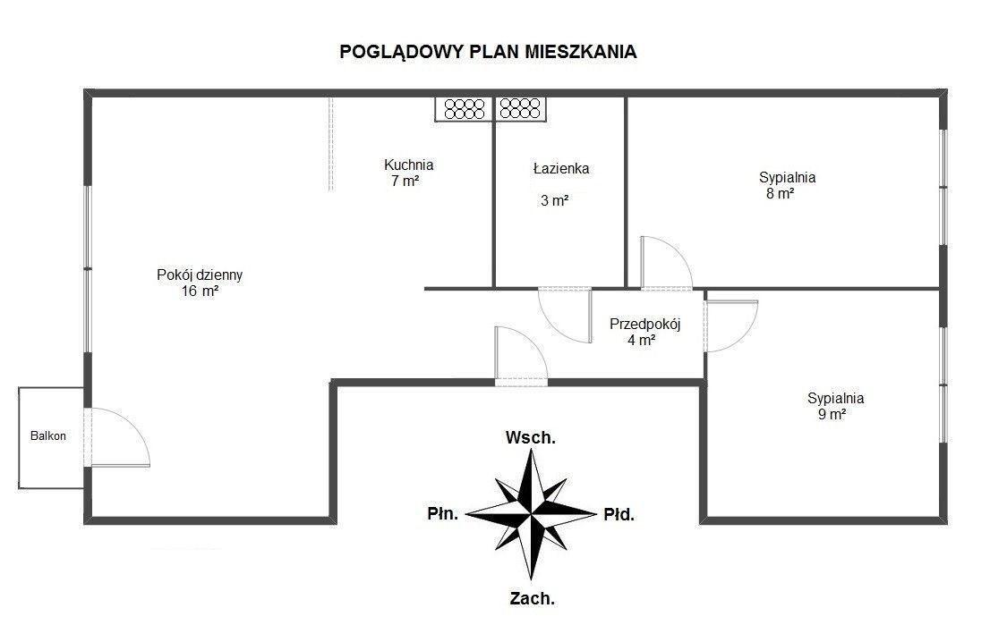 Mieszkanie trzypokojowe na sprzedaż Warszawa, Ochota, Jankowska  48m2 Foto 6