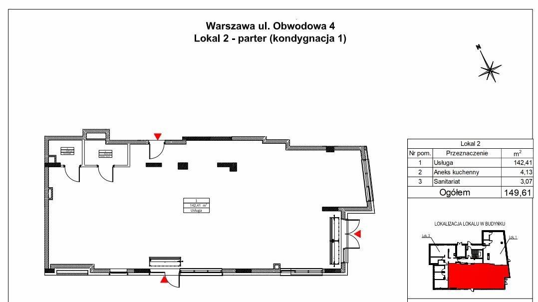 Lokal użytkowy na wynajem Warszawa, Targówek, Targówek, Obwodowa  150m2 Foto 3