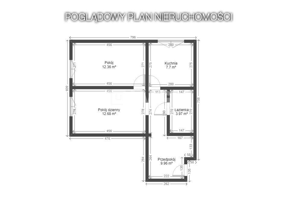 Mieszkanie dwupokojowe na sprzedaż Bytom, Stroszek, Stroszek  55m2 Foto 8