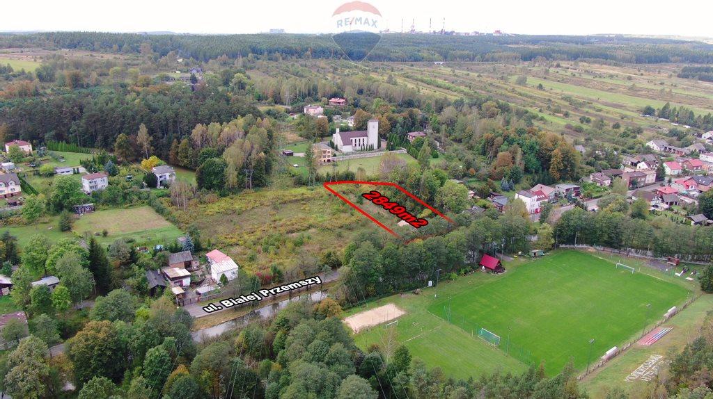 Działka budowlana na sprzedaż Dąbrowa Górnicza, Okradzionów, Białej Przemszy  2849m2 Foto 12