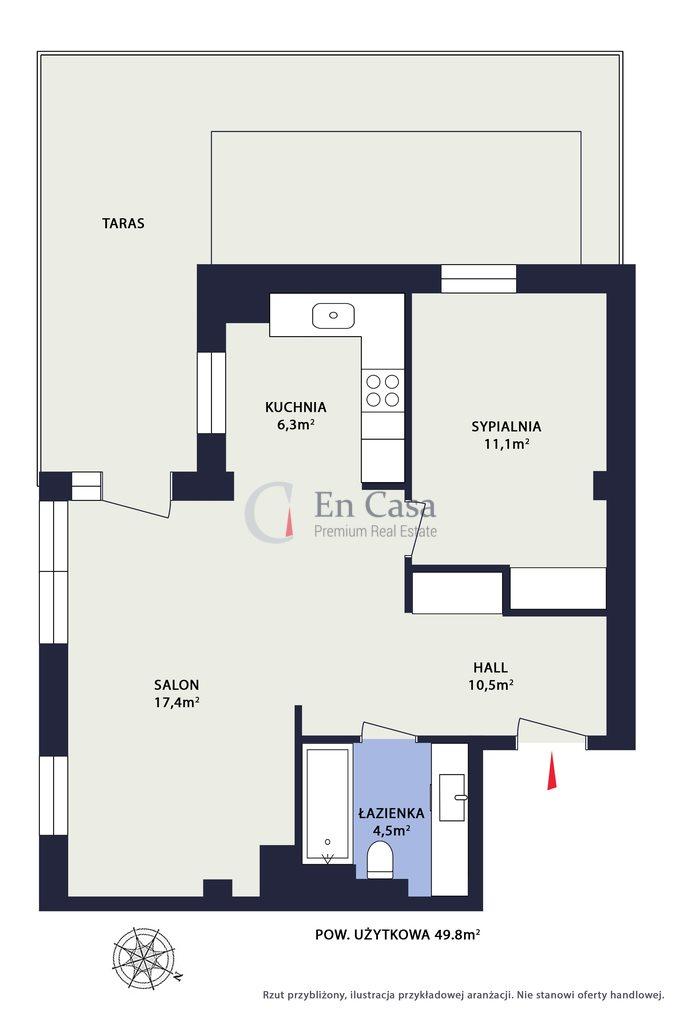 Mieszkanie dwupokojowe na sprzedaż Warszawa, Praga-Północ, Kamienna  50m2 Foto 12
