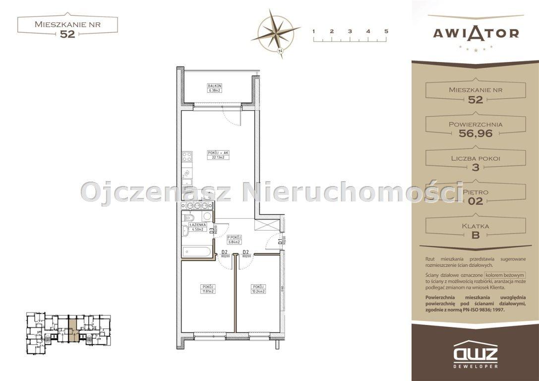 Mieszkanie dwupokojowe na sprzedaż Bydgoszcz, Bartodzieje  57m2 Foto 4