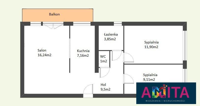 Mieszkanie trzypokojowe na sprzedaż Warszawa, Targówek Bródno  59m2 Foto 5