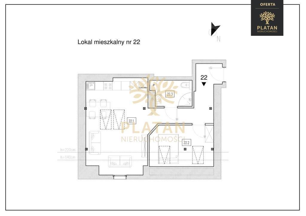 Mieszkanie dwupokojowe na sprzedaż Poznań, Łazarz, Łazarz, Marcelego Mottego  50m2 Foto 2