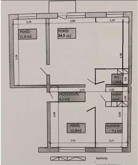 Mieszkanie trzypokojowe na sprzedaż Poznań, Winogrady, Os. Wichrowe Wzgórze  65m2 Foto 15