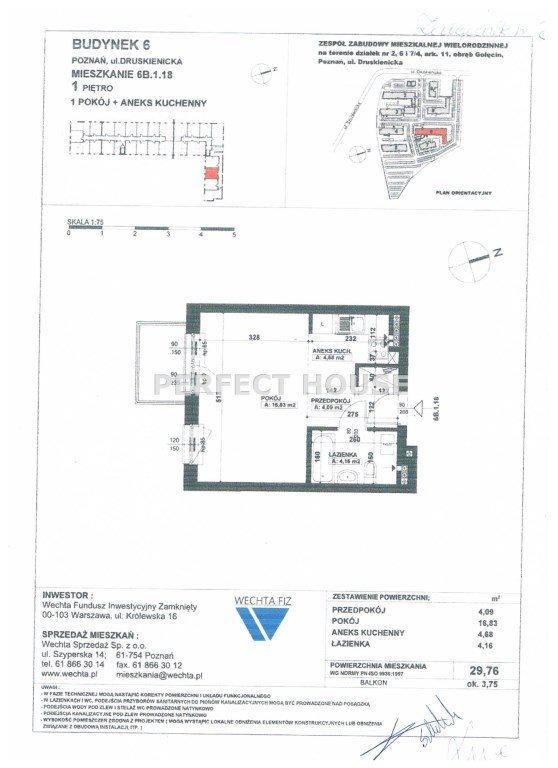 Mieszkanie dwupokojowe na sprzedaż Poznań, Podolany  30m2 Foto 11