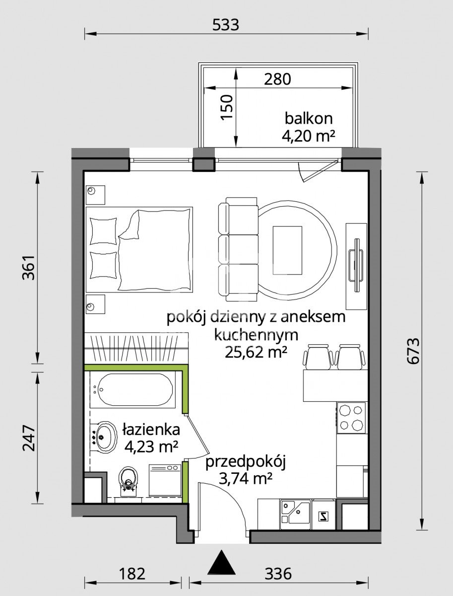 Mieszkanie dwupokojowe na sprzedaż Gdańsk, Śródmieście, Wałowa  34m2 Foto 2