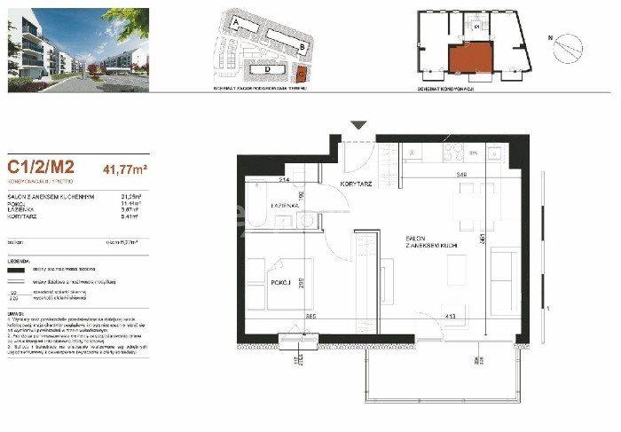 Mieszkanie dwupokojowe na sprzedaż Poznań, Strzeszyn  41m2 Foto 2
