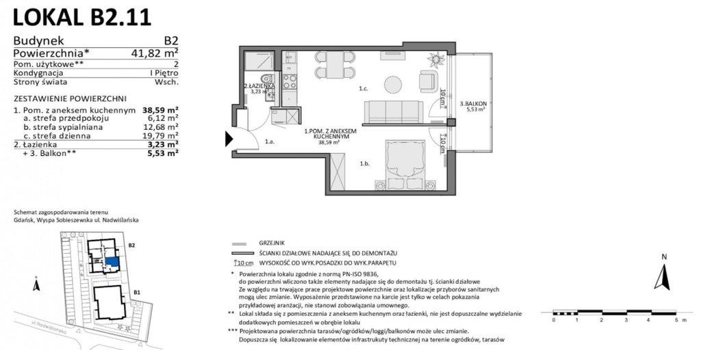 Mieszkanie dwupokojowe na sprzedaż Gdańsk, Sobieszewo, Nadwiślańska  42m2 Foto 9