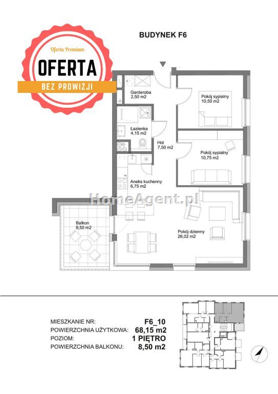 Mieszkanie trzypokojowe na sprzedaż Katowice, Kostuchna  68m2 Foto 11