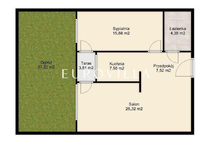 Mieszkanie dwupokojowe na sprzedaż Warszawa, Wilanów, Prymasa Augusta Hlonda  62m2 Foto 11