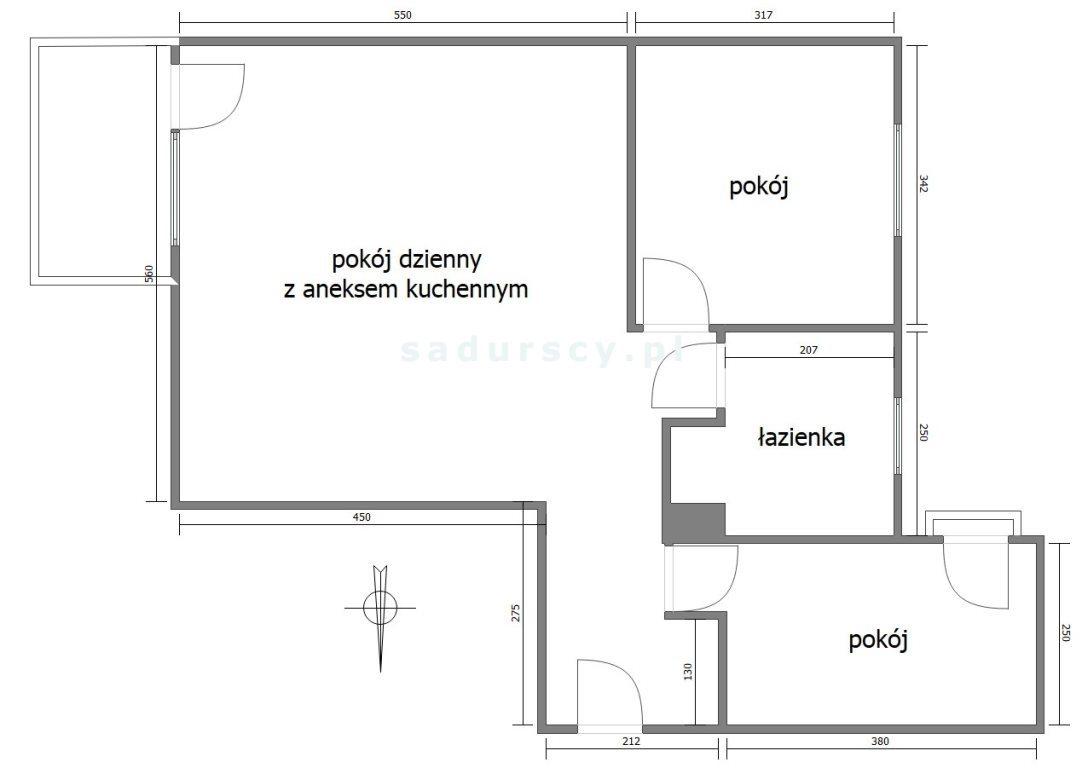 Mieszkanie trzypokojowe na sprzedaż Kraków, Dębniki, Kliny, Komuny Paryskiej  63m2 Foto 3
