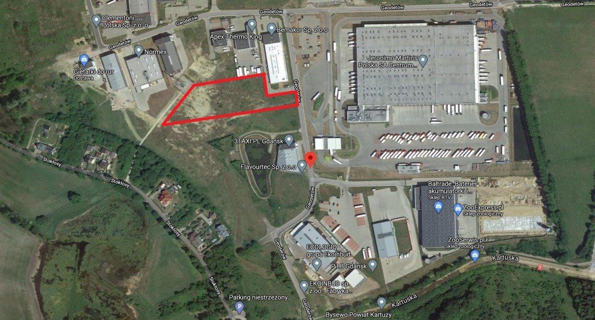 Działka przemysłowo-handlowa pod dzierżawę Gdańsk, Kokoszki, Geodetów  4209m2 Foto 1