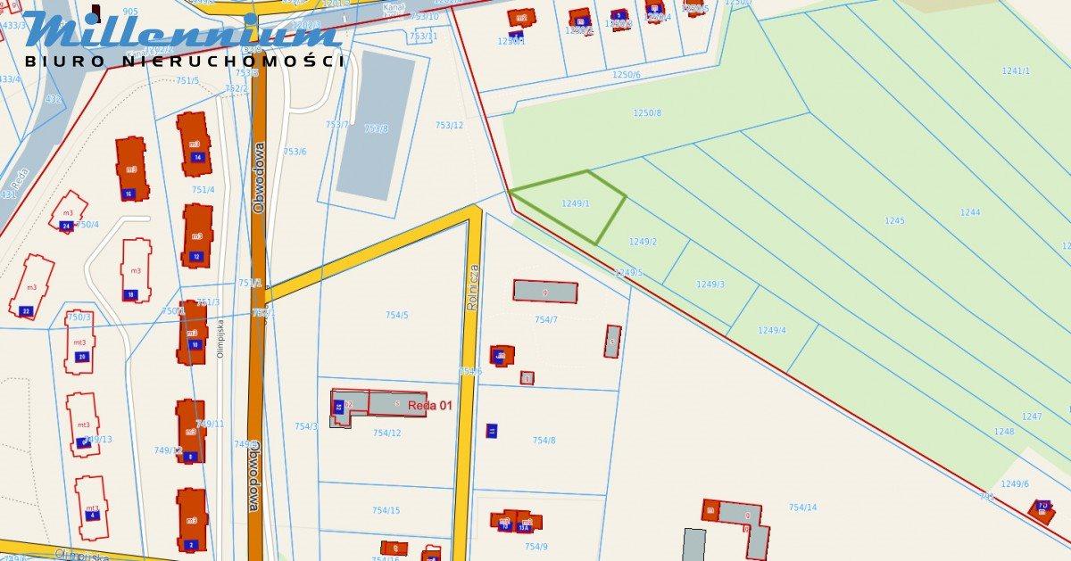 Działka budowlana na sprzedaż Reda, Rolnicza  1182m2 Foto 2