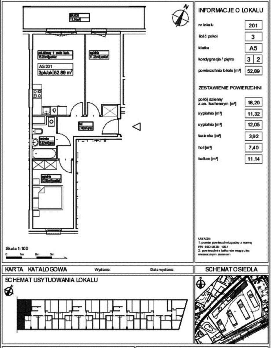 Mieszkanie trzypokojowe na sprzedaż Pruszków, Pruszków  52m2 Foto 1