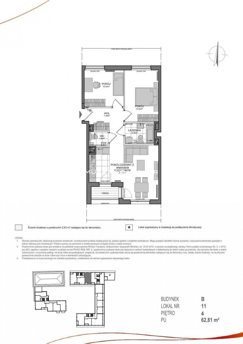 Mieszkanie trzypokojowe na sprzedaż Gdańsk, Wrzeszcz, Adama Mickiewicza  63m2 Foto 2