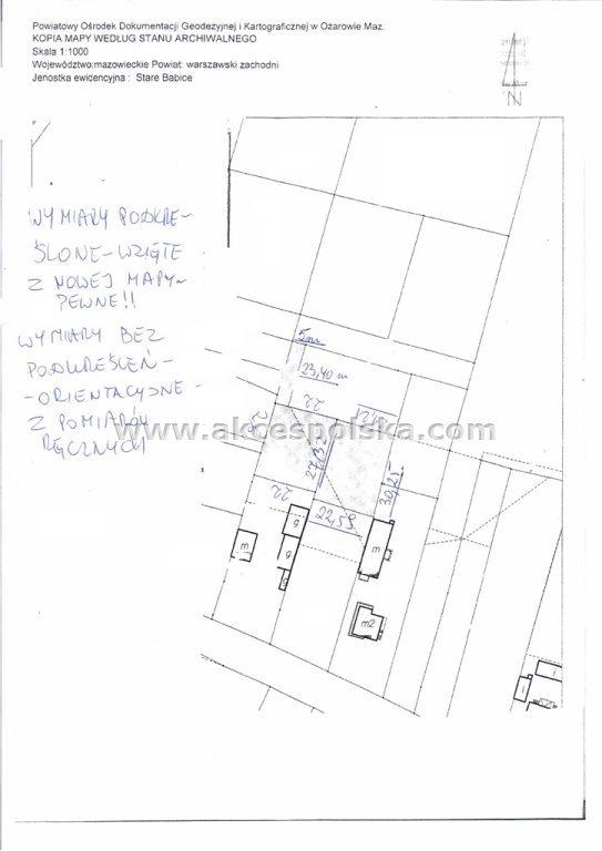 Działka budowlana na sprzedaż Stare Babice  1406m2 Foto 5