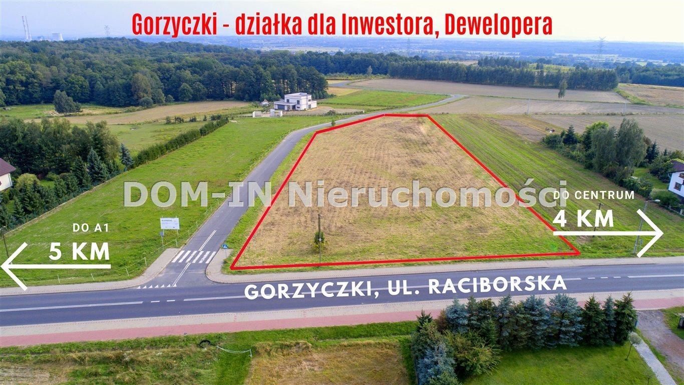 Działka budowlana na sprzedaż Gorzyczki, Raciborska  6600m2 Foto 1